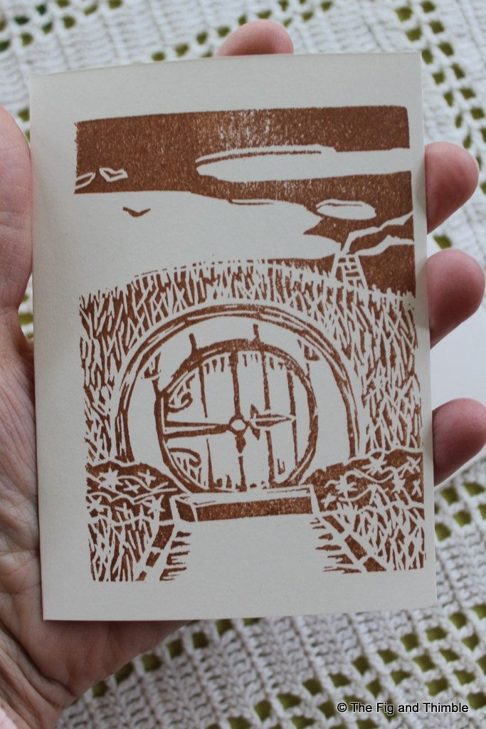 Hobbit Inspired Party Invitations - Handstamped Set of Eight from hand carved stamp -  Tolkien Lord of the Rings LOTR. $6.50, via Etsy. --  For my coming of age bday party!!