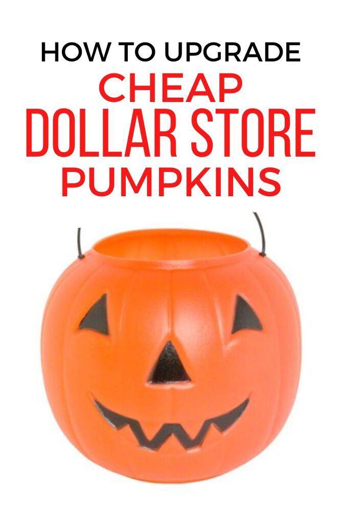 Diy Dollar Store Halloween Pumpkin Decoration Idea Pumpkin Halloween Decorations Pumpkin Decorating Dollar Store Halloween
