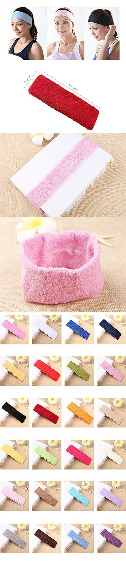 XDOBO Candy Color Hairband Hair Hoop Fitness Yoga Headband Headscarves for Exercise Gym Training Women/ Men