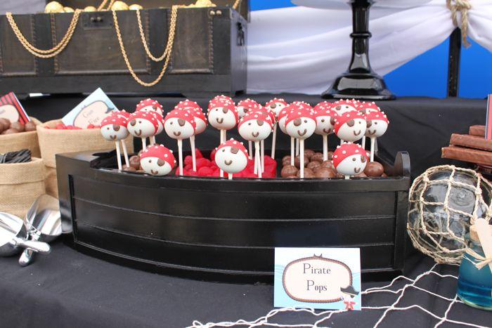Cake pops monísimos para una fiesta pirata / Adorable cake pops for a pirate party