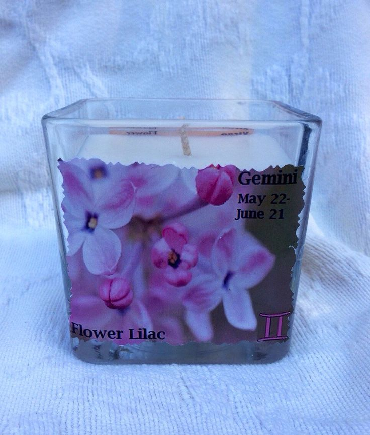 A personal favorite from my Etsy shop https://www.etsy.com/listing/194760748/gemini-flower-lilac-astrology-candle