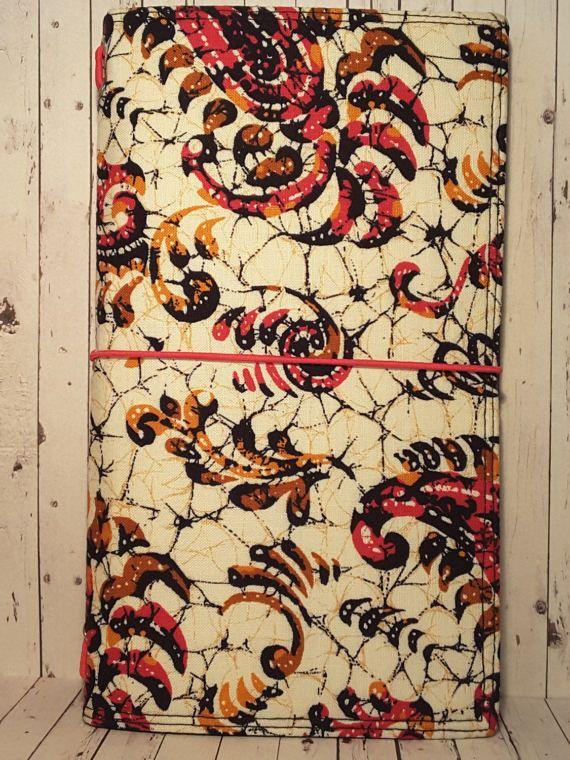 Wilddori 'Flourished Web' Travelers Notebook Journal with Black Lining and  Hot Pink Elastic, Midori Style Fauxdori, with Insert.
