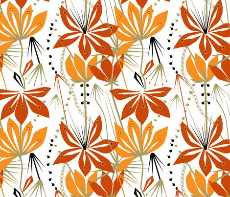 Liljat-ch fabric by mirjamauno on Spoonflower - custom fabric
