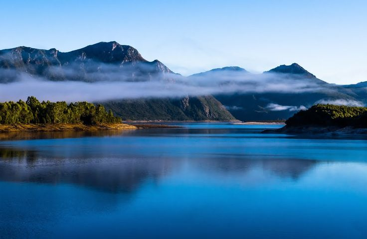 Lake Burbury & Mt Owen from Bradshaw's Bridge Queenstown Tasmania