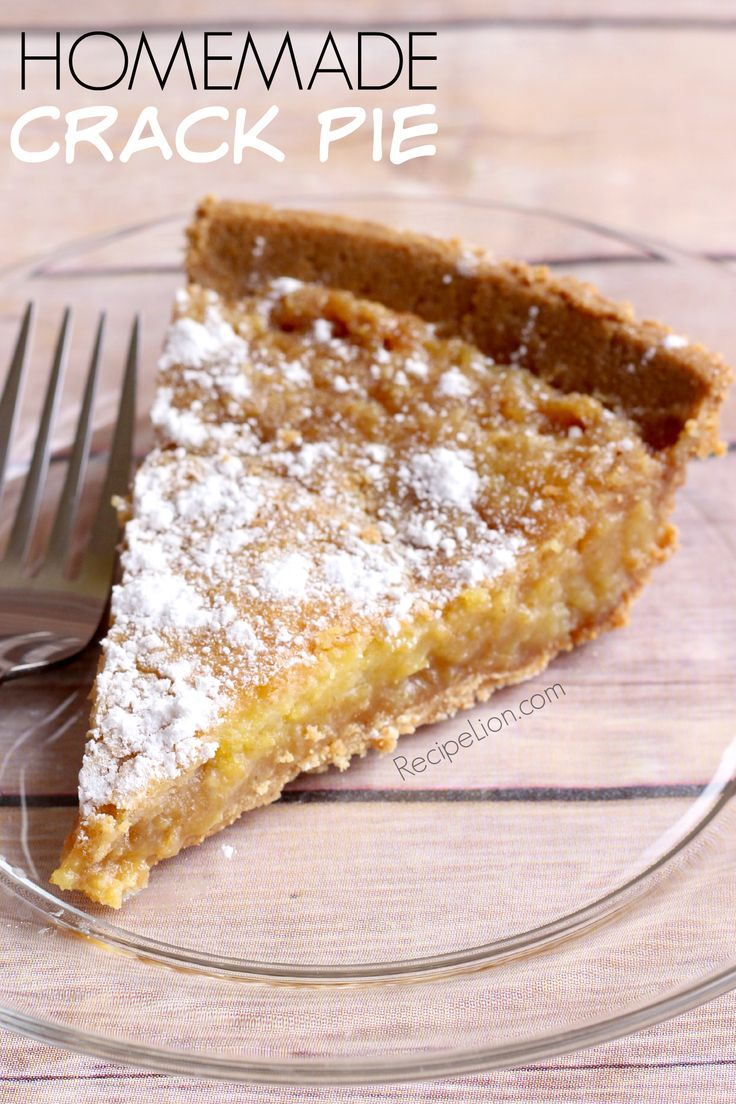 Homemade Crack Pie - a copycat recipe for Momofuku Milk Bar's Crack Pie ... much easier, much cheaper, and seriously addictive!