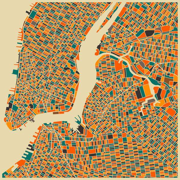New York. Un artiste revisite la cartographie des plus grandes villes du monde pour en faire des oeuvres d'art