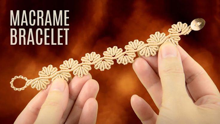 Wavy Flower Lace Bracelet Demo | Macrame School