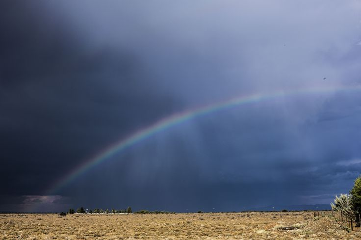 see the storm beyond the rainbow above the horizon bottom left  My Great Karoo©
