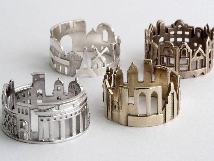 Tenha suas cidades favoritas à mão com estes anéis inspirados em paisagens…