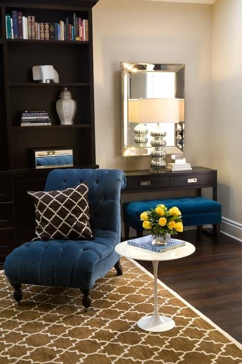 peacockDecor, Blue Velvet, Living Rooms, Chairs Benches, Dining Room Rugs, Colors, Livingroom, Blue Chairs, Royal Blue
