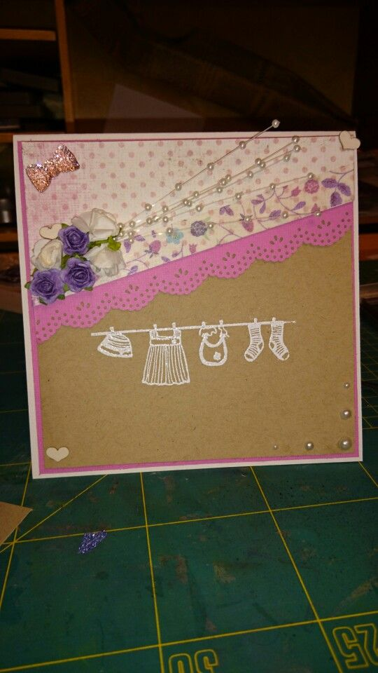Babygirl card made by me