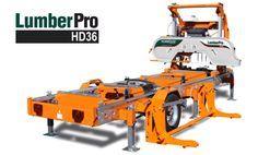 LumberPro HD36 portable sawmill in fully hydraulic configuration.
