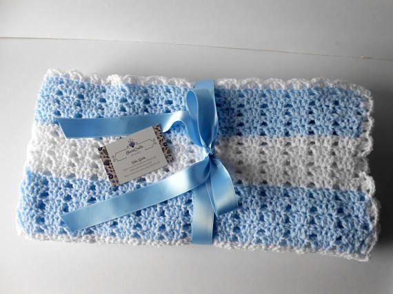 Crochet Baby Blanket. Baby Boy Blanket. Baby Boy gift Set.