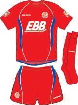 Aldershot Town home kit for 2009-10.