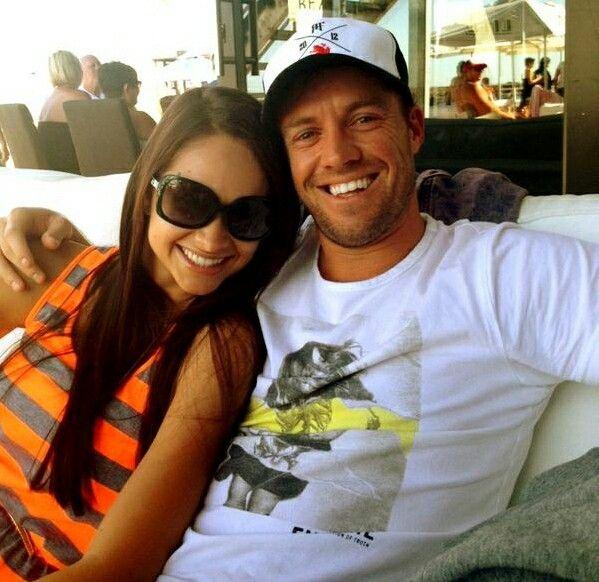 Ab de villiers with his beautiful wife danielle de villiers...