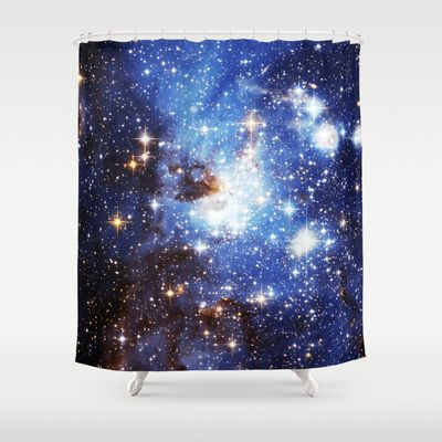 Blue Galaxy Shower Curtain - Available Here: http://society6.com/rapplatt/Blue-Galaxy-7Zu_Shower-Curtain#35=287