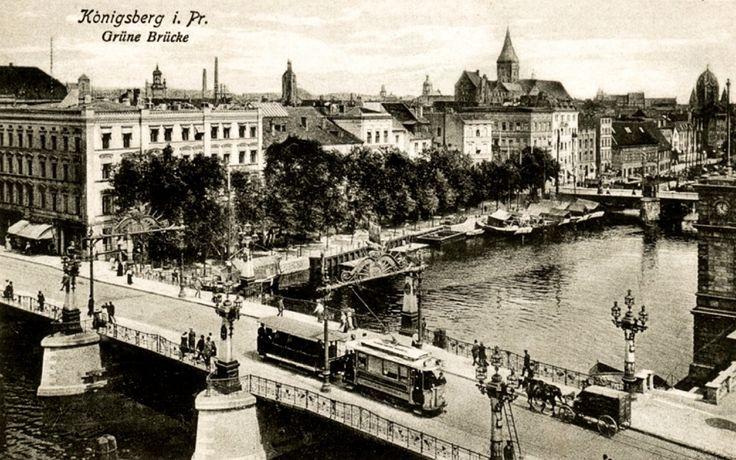 Königsberg Pr. - die Grüne Brücke, eine von fünf Brücken, die die Dom - Insel mit der Stadt verbindet..