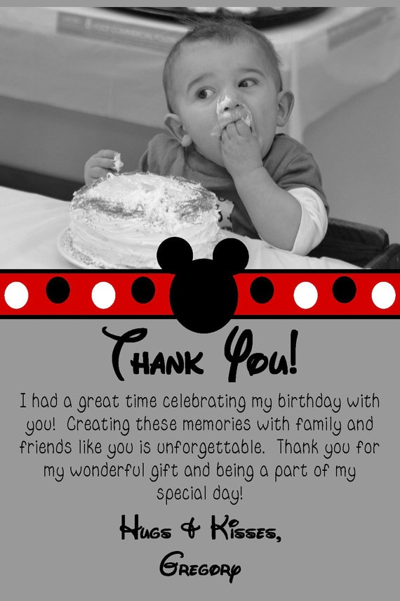 10 Best Mickey Mouse Thank You Notes Images On Pinterest
