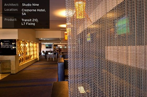 Curtains Ideas curtains in australia : Wire Mesh Curtains, Internal Space Screening for privacy at ...