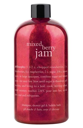 philosophy 'mixed berry jam' shampoo, shower gel & bubble bath (Nordstrom Exclusive) available at Nordstrom