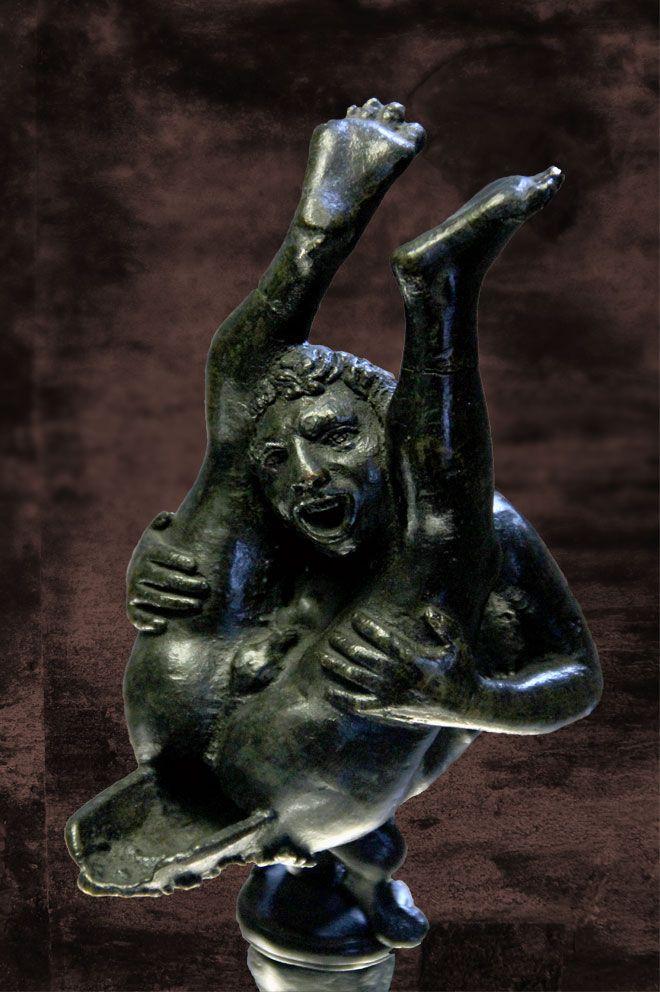 Oil Lamp [Roman, Bronze] (c 1st Cent B.C.- 1st Cent A.D.)