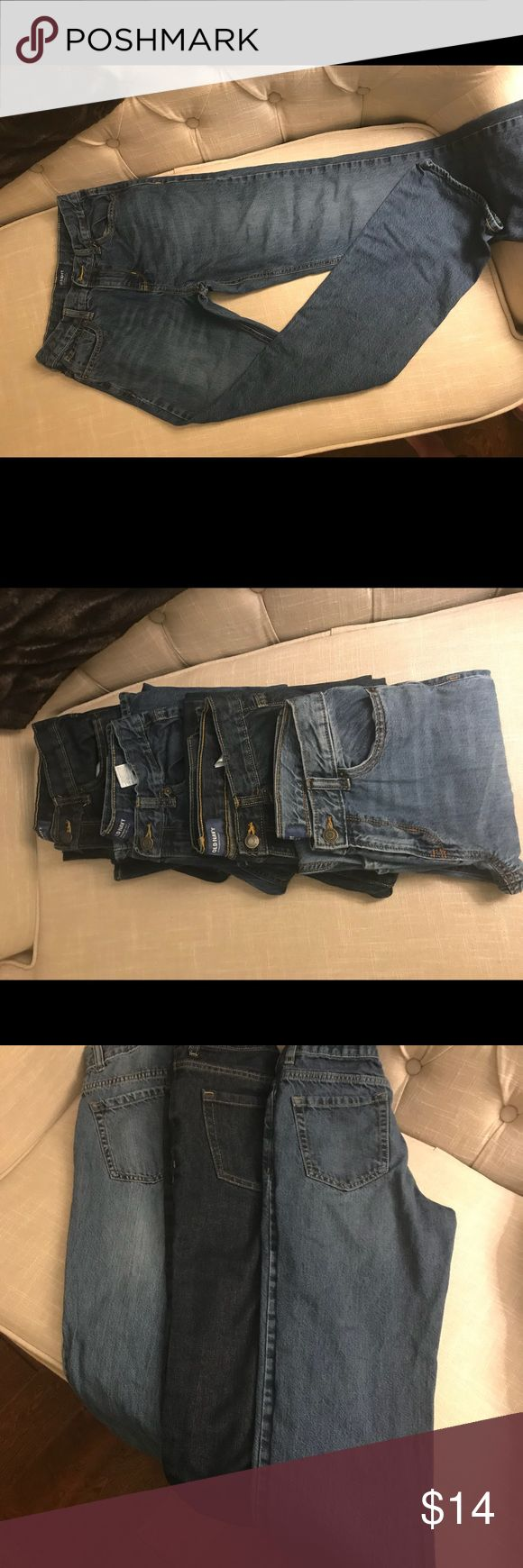 Old Navy Jeans Straight Leg Size 16 Boys Size 16 straight leg jeans with adjustable elastic waistband.  EUC with no signs of wear. Son had a growth spurt right after purchasing.  Check out my other listings for more great deals on boys clothing. Bundle and save more! Old Navy Bottoms Jeans