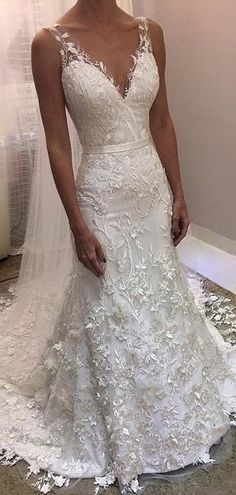 V Neck Backless Lace Mermaid Low cost Marriage ceremony Clothes On-line, Low cost Bridal Clothes, WD530