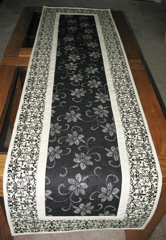 Elegant Table Runner Quilted  fabric from by PicketFenceFabric, $33.95