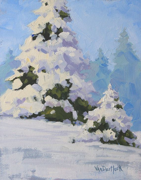 56 best christmas card ideas images on pinterest - Images of pine trees in snow ...