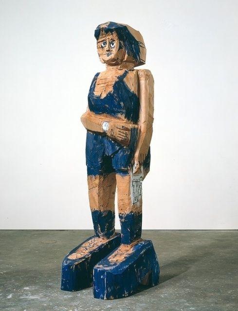 Georg Baselitz, frau Ultramarine  (2004), via Artsy.net