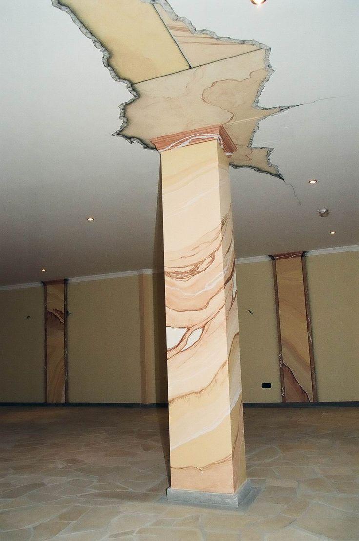 Denkmalschutz, Denkmalpflege, Restauration, Fassadengestaltung, Wanddesign,  Airbrush, Sandstein, Porphyr,