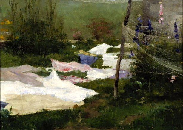 Clothes Drying, Helene Schjerfbeck, 1883
