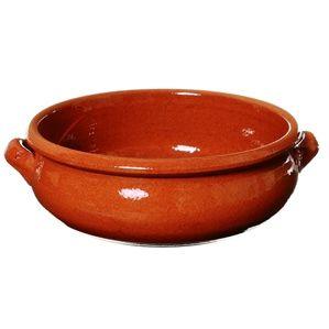 8-inch Deep Cazuela with Belly - Terra Cotta Dish