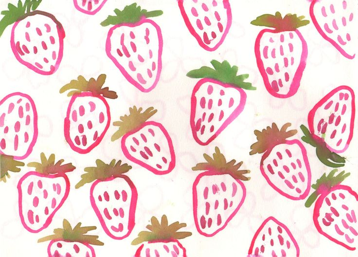 leah reena strawberry pattern