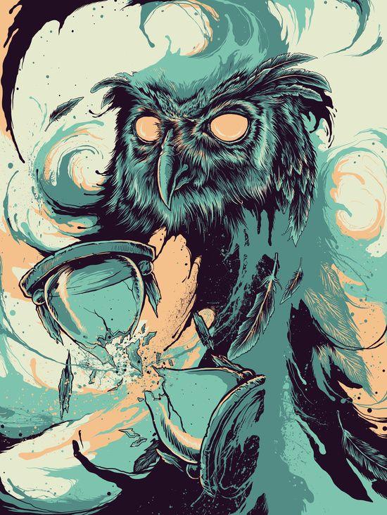 owl, buho, illustration, bold