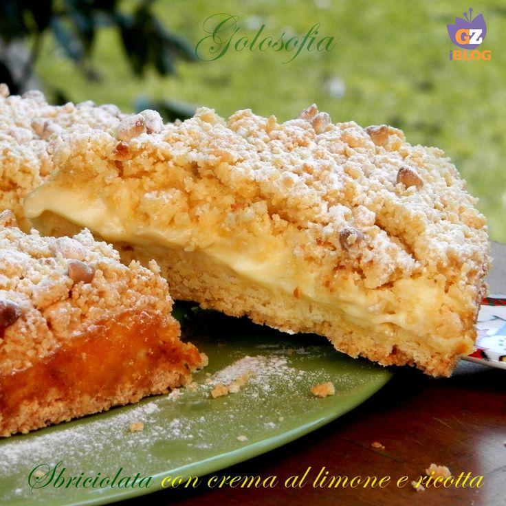 Sbriciolata con crema al limone e ricotta, un guscio croccante di pasta frolla che racchiude un ripieno dolcissimo..da non perdere!