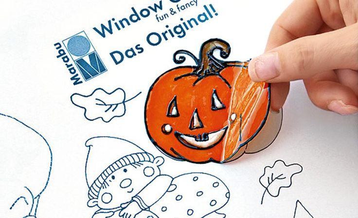 Halloween Deko: Kürbis und Hexe / Window Color/ Fenstermalfarbe