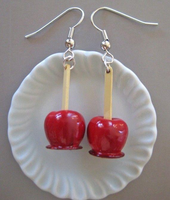 Candied Apple Earrings