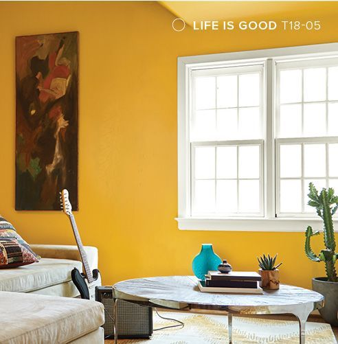 Behr color trends 2018 color sample t18 05 life is good lakehouse pinterest color trends for Behr paint colors interior yellow