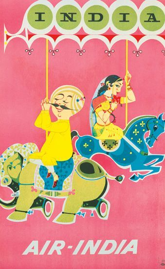 Air India poster from Swann Auctions
