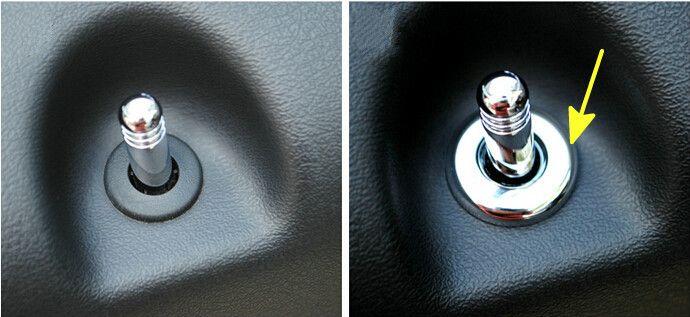 For Jeep Patriot 2011 2012 2013 2014 2015 Car door bolt circle decorative cover trim 4pcs