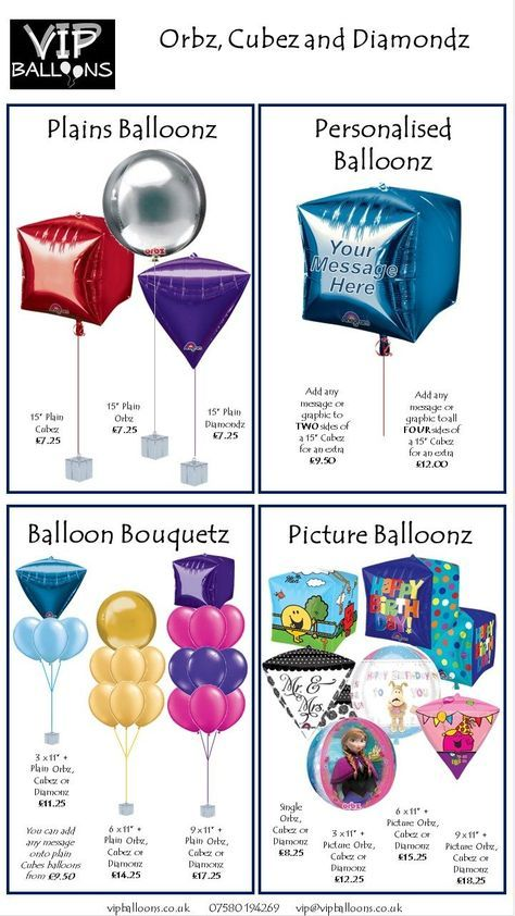 Balloon Decor Price Guide | Balloon prices, Helium ...