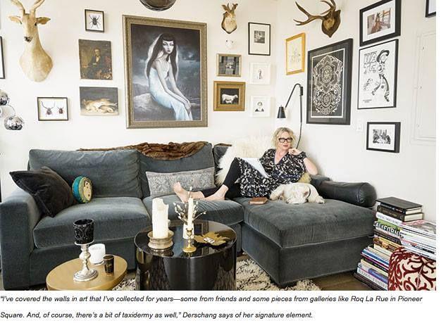 Linda Dershang at home
