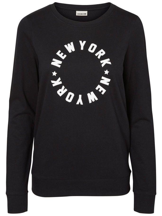 We never get tired of NY. New York sweatshirt from Noisy may.