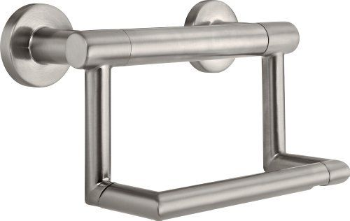Delta Faucet 41550-SS Contemporary Tissue Holder/Assist Bar, Stainless DELTA FAUCET