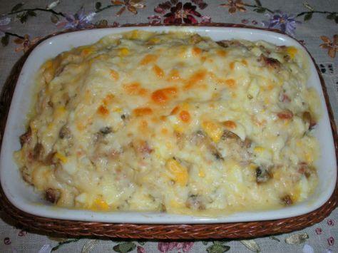 Coliflor con bechamel de jamón y champiñones - Recetízate