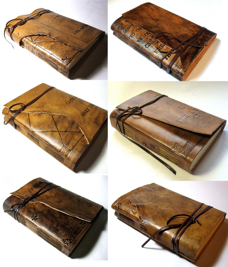 Personalized Large Leather Journal, A5, Guest Book, Sketchbook. Summum Meditatio stitched. €65.00, via Etsy.