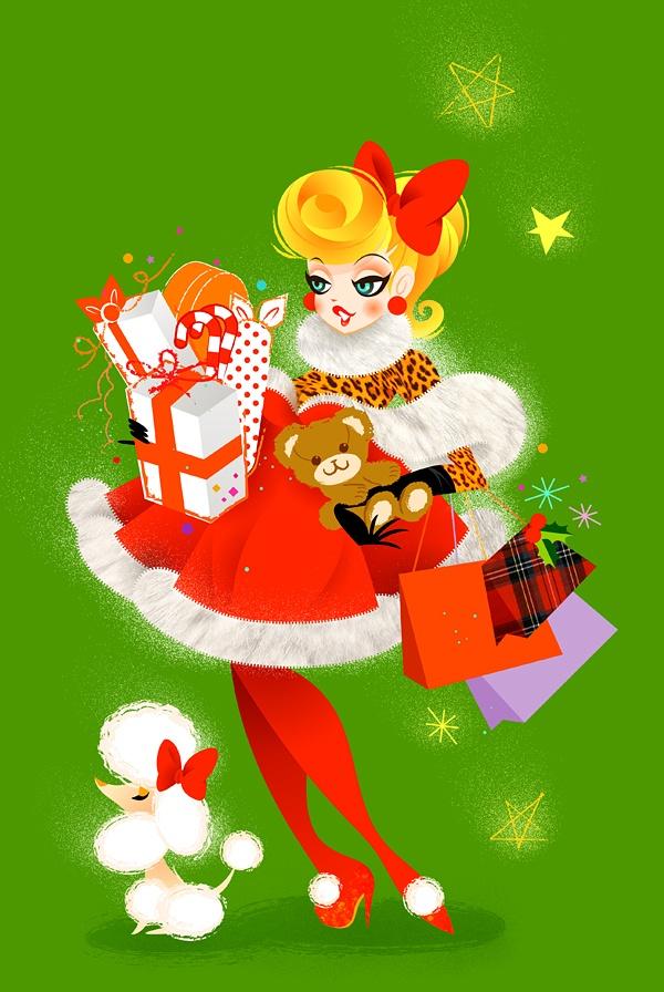 Lady Santa Claus #christmas #holidays