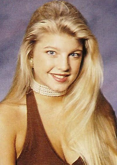 Young Fergie before she was famous Yearbook picture