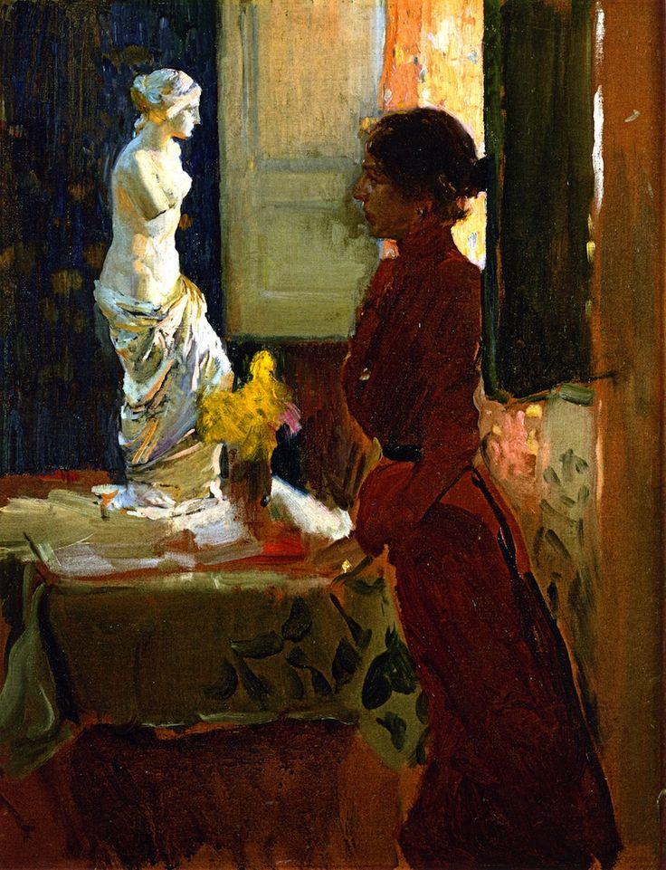 Joaquín Sorolla - Clotilde Contemplando la Venus de Milo